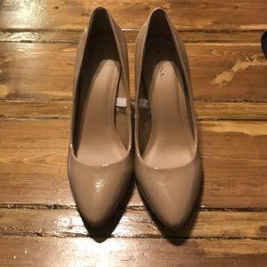 Nude work heels